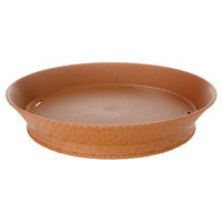 GET RB-892 9 inch Terracotta Round Plastic Fast Food Basket with Base - 12/Pack