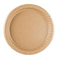 9 inch Coated Kraft Paper Plate - 400 / Case