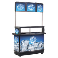 CYK 256 Qt. Illuminated Tri-Canopy Beverage Cart
