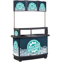 IRP 3650039 256 Qt. Illuminated Tri-Canopy Beverage Cart