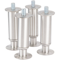 Manitowoc K-00137 6 inch Adjustable Stainless Steel Flanged Feet - 4/Set