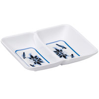 GET 037-B Water Lily 2 oz. Twin Melamine Sauce Dish - 24/Case