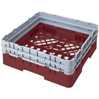 Cambro BR578416 Cranberry Camrack Customizable Full Size Open Base Rack with 2 Extenders