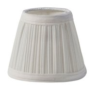 Sterno Products 85432 5 1/8 inch x 4 1/2 inch Small Cream / Ivory Cloth Lamp Shade