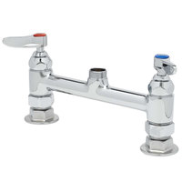 T&S B-0320-LN Deck Mounted Double Pantry Base Faucet with 8 inch Centers