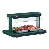 Hatco GR2BW-24 24 inch Glo-Ray Hunter Green Designer Buffet Warmer with Hunter Green Insets and Infinite Controls - 970W