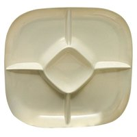 Thunder Group PS1515V Passion Pearl Chip and Dip Platter - 6/Pack