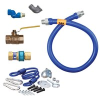 36 inch Dormont 16125BPQSR SwivelMAX Gas Connector Kit with Coiled Restraining Device - 1 1/4 inch Diameter
