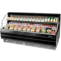 Turbo Air TOM-75LB 75 inch Black Low Profile Horizontal Air Curtain Display Case
