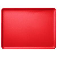Carlisle 1418LFG017 Customizable 14 inch x 18 inch Glasteel Red Dietary Fiberglass Tray - 12/Case