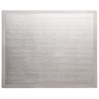 Vollrath 8250016 Miramar Blank Stainless Steel Double Well Adapter Plate with Satin Finish Edge
