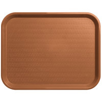 Carlisle CT141831 Customizable Cafe 14 inch x 18 inch Light Brown Standard Plastic Fast Food Tray - 12/Case