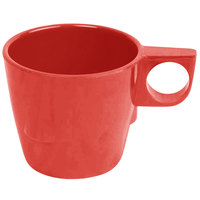 Thunder Group ML9011PR 7 oz. Pure Red Bulbous Melamine Mug - 12/Pack