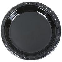 """Genpak BLK09 Silhouette 9"""" Black Premium Plastic Plate - 400/Case"""