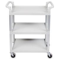 Cambro BC331KD480 Speckled Gray Three Shelf Utility Cart (Unassembled) - 32 7/8 inch x 16 1/4 inch x 38 inch