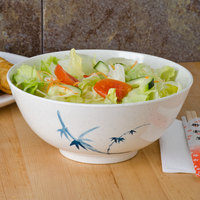 Thunder Group 5208BB Blue Bamboo 56 oz. Round Melamine Rice Bowl - 12/Case