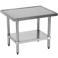 Globe XTABLE 30 inch x 24 inch Stainless Steel Mixer Table with Galvanized Undershelf