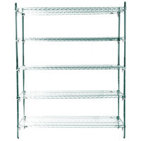 Metro 5A367K3 Stationary Super Erecta Adjustable 2 Series Metroseal 3 Wire Shelving Unit - 18 inch x 60 inch x 74 inch
