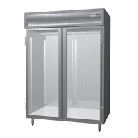 Delfield SSF2-G Stainless Steel 52 Cu. Ft. Two Section Glass Door Reach In Freezer - Specification Line
