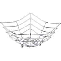 American Metalcraft SCB480 Square Chrome Web Basket - 8 inch x 8 inch x 4 inch