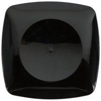 Fineline Renaissance 1506-BK 5 1/2 inch Black Plastic Dessert Plate - 10/Pack