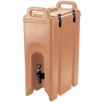 Cambro 500LCD157 Camtainer 4.75 Gallon Coffee Beige Insulated Beverage Dispenser