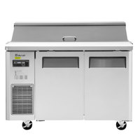 Turbo Air JST-48 48 inch 2 Door Side Mount Compressor Refrigerated Sandwich Prep Table