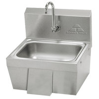 Advance Tabco 7-PS-44 Hands Free Hand Sink with Panel Valve - 17 1/4 inch