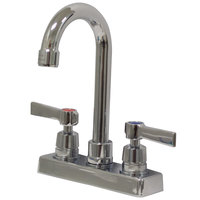 Advance Tabco K-52 3 1/2 inch Deck-Mounted Gooseneck Faucet with 4 inch Centers