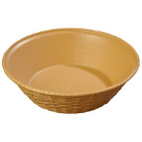 Carlisle 652467 WeaveWear Tan Round Plastic Serving Basket 9 inch - 12/Case