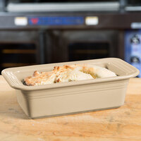 Homer Laughlin 813330 Fiesta Ivory 5 3/4 inch x 10 3/4 inch x 3 inch Loaf Pan - 3/Case