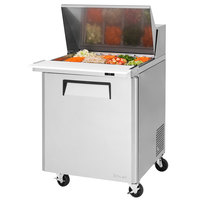 Turbo Air MST-28-12 27 1/2 inch 1 Door Mega Top Refrigerated Sandwich Prep Table