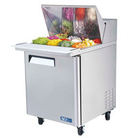 Turbo Air MST-28-12 28 inch M3 Series Single Door Mega Top Refrigerated Salad / Sandwich Prep Table