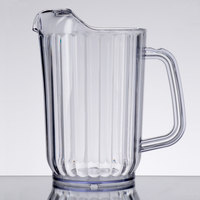 Choice 32 oz. Clear SAN Plastic Beverage Pitcher