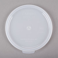 Cambro CCPL12148 Replacement White 1.2 Qt. Round Clear Crock Lid - 12/Case