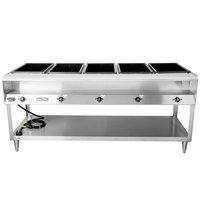 Vollrath 38105 ServeWell Electric Five Pan Hot Food Table 120V - Sealed Well