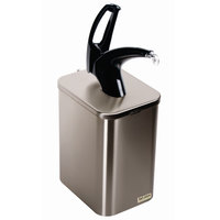 San Jamar P4900BK FrontLine Universal Countertop Condiment Pump Dispenser System - Black
