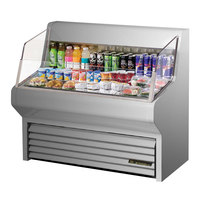 True THAC-48-S 48 inch Stainless Steel Refrigerated Horizontal Air Curtain Merchandiser - 12 Cu. Ft.
