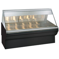 Alto-Shaam EC2SYS-72 S/S Stainless Steel Heated Display Case with Angled Glass and Base- Full Service 72 inch