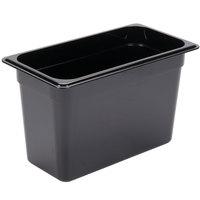 Carlisle 3066903 StorPlus 1/3 Size Black Food Pan - 8 inch Deep