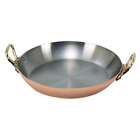 De Buyer 6449.26 Copper Paella Pan - 10 1/4 inch