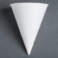 Dart Solo 8R-2050 Bare Eco-Forward 8 oz. White Rolled Rim Paper Cone Cup with Chipboard Box Packaging - 250 / Pack