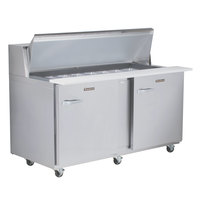 Traulsen UPT6024-RR 60 inch 2 Right Hinged Door Refrigerated Sandwich Prep Table