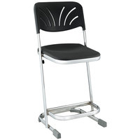 National Public Seating 6622B Elephant Z-Stool with Backrest - 22 inch High