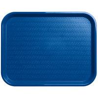 Carlisle CT141814 Cafe 14 inch x 18 inch Blue Standard Plastic Fast Food Tray - 12/Case