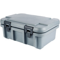Cambro UPC160191 Camcarrier Ultra Pan Carrier® Granite Gray Top Loading 6 inch Deep Insulated Food Pan Carrier