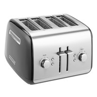 KitchenAid KMT4115OB Onyx Black Four Slice Toaster with Manual Lift