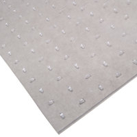 Cactus Mat 3548F-4 Anchor-Runner 4' Wide Special Cut Clear Vinyl Heavy-Duty Carpet Protection Runner Mat - 5/16 inch Thick