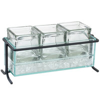Cal-Mil 1806-5-13 Iron Short Black Iced Jar Display - 13 1/2 inch x 5 1/2 inch x 7 inch