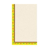 8 1/2 inch x 11 inch Menu Paper - Southwest Themed Mariachi Design Left Insert - 100/Pack